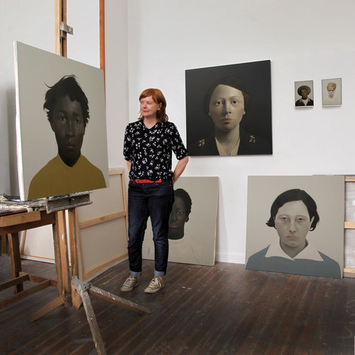 Sarah Ball in her Cornwall studio.