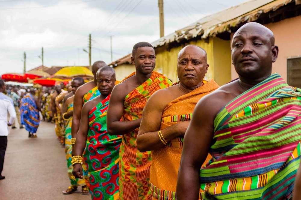 Several Chiefs perform a solemn procession during the Akwasidae Festival