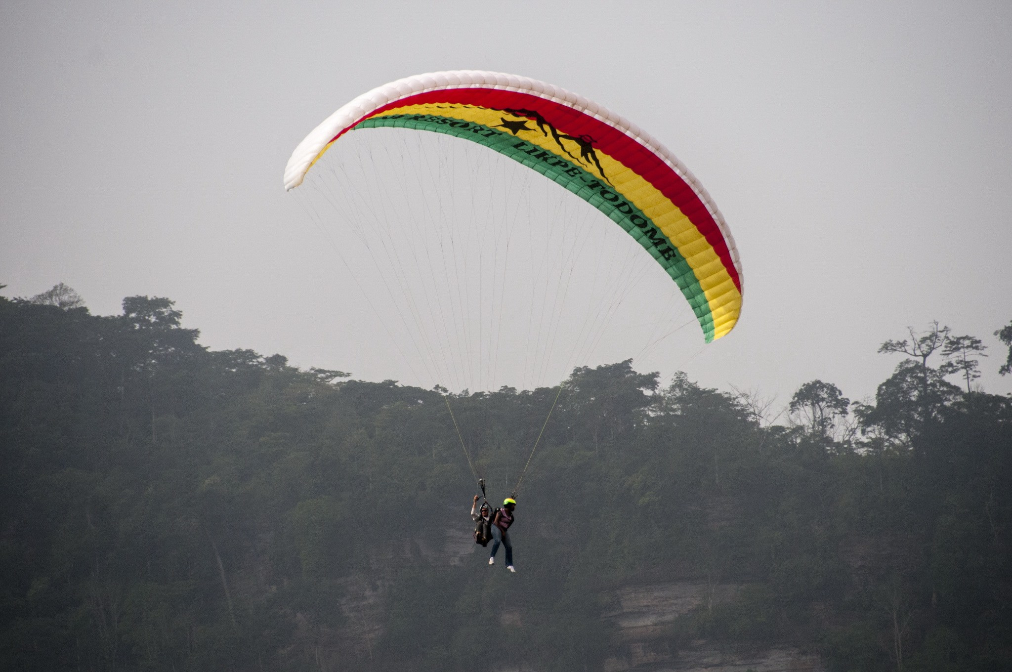 Paragliding in Kwahu Ghana
