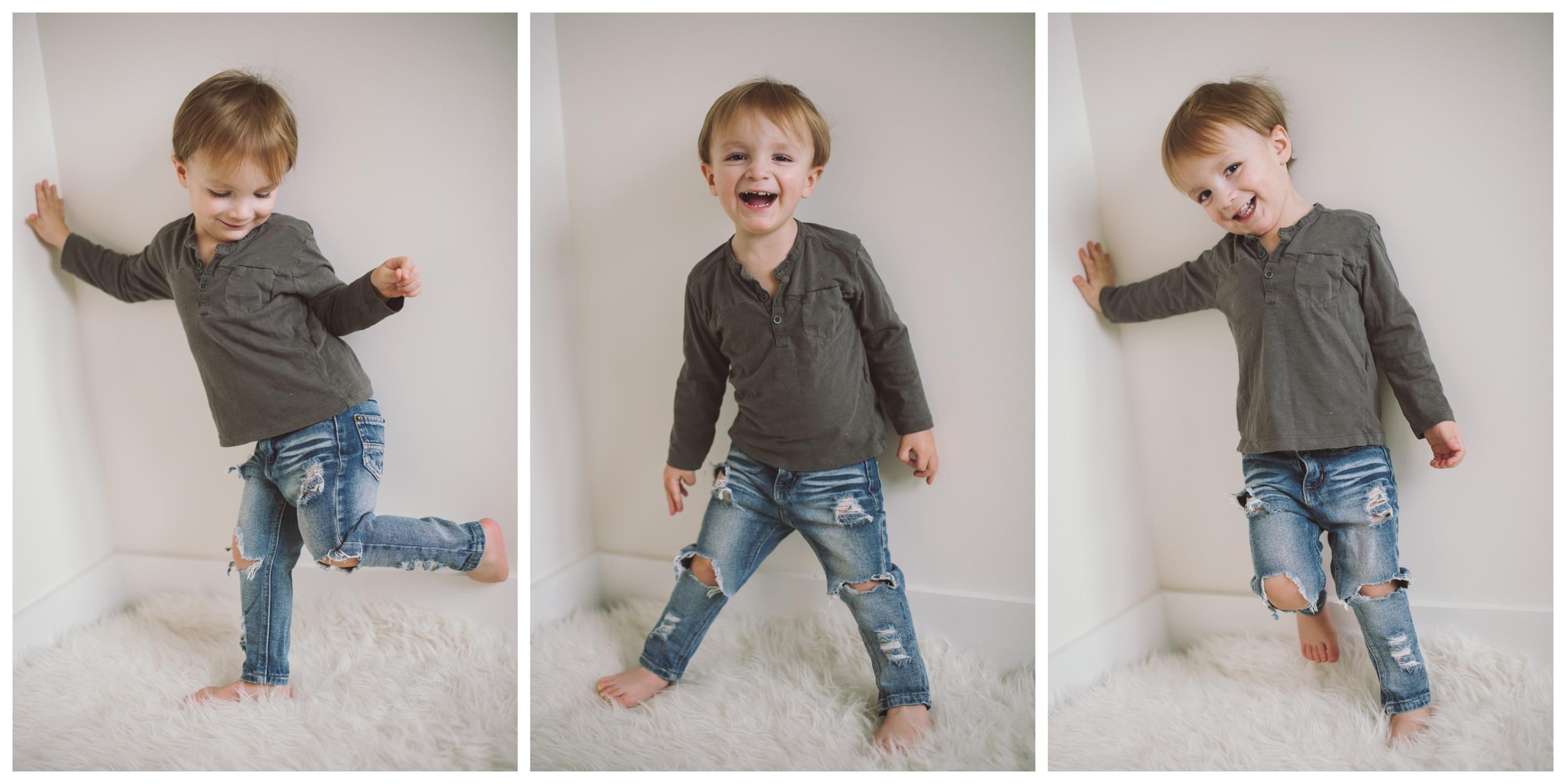 jeans:  susie's custom . less distress skinny fit.