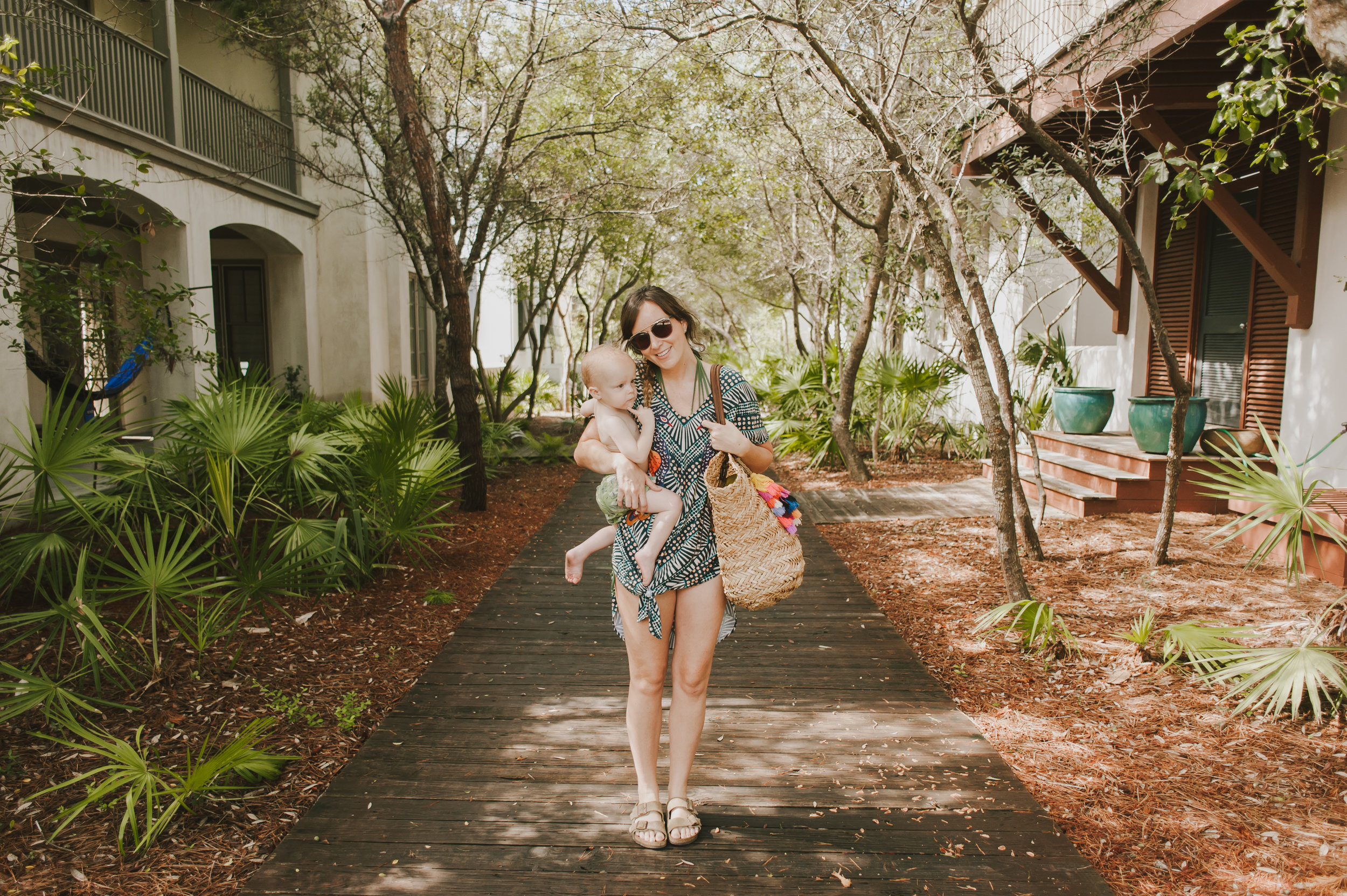 mara hoffman peacock cover up  //  target straw bag  (on clearance!!) //  ditto sunglasses by smoke & mirrors