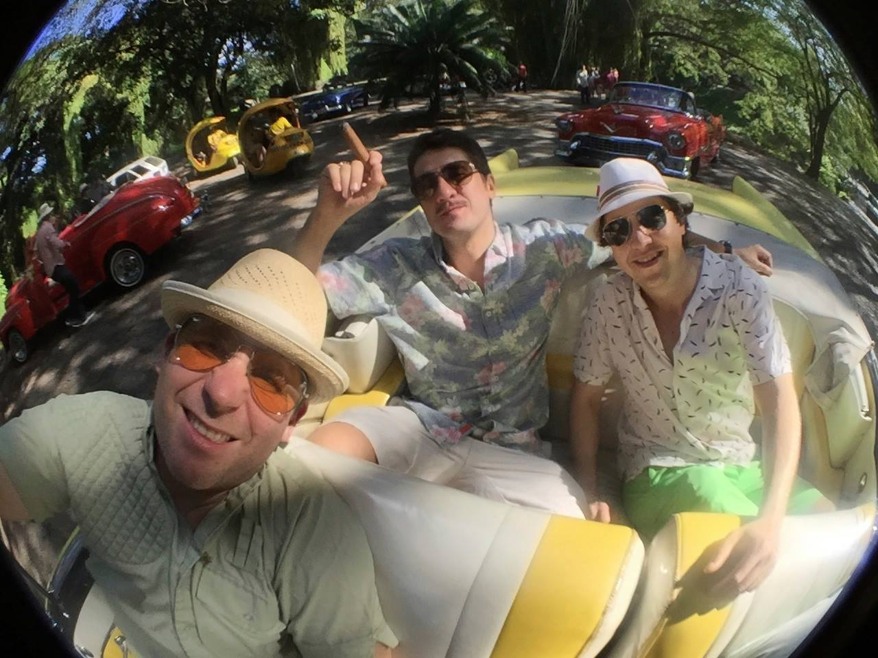 Fear and loathing as the boys cruise through the heavily wooded parks where we found evidence of Santaria rituals in the public parks.
