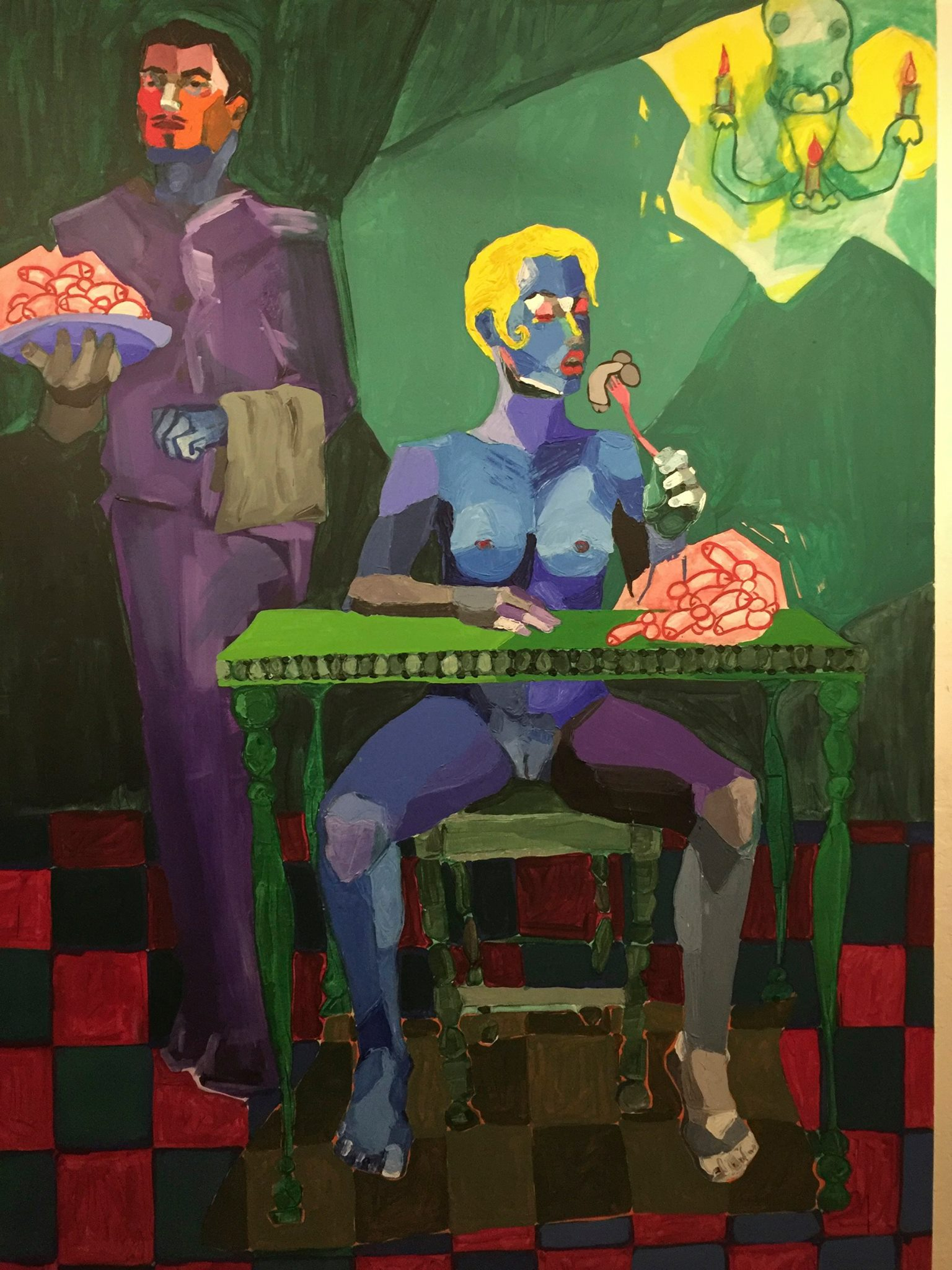 Cuban art is striking, colorful and blunt.