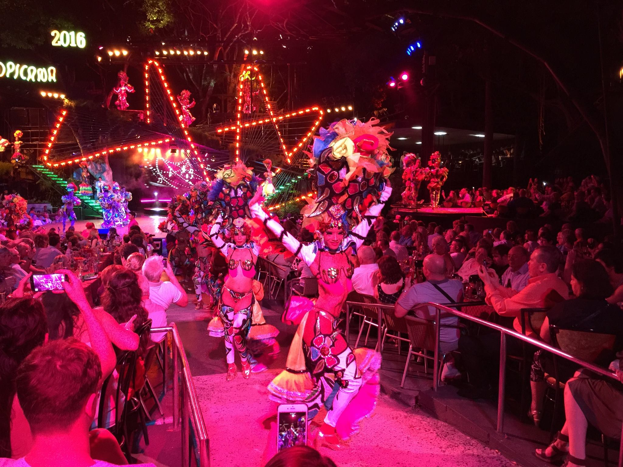 The outfits at the Tropicana were just out of this world. An amazing performance with brilliant splashes of color at every turn.