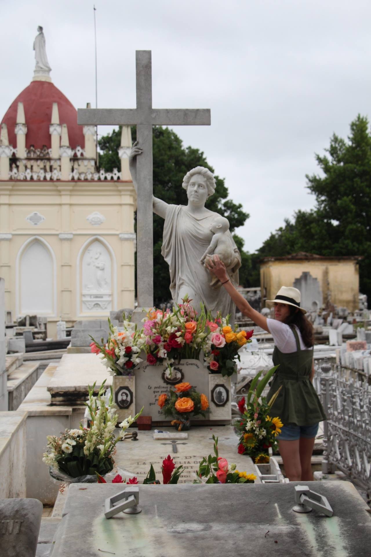 The main cemetary in Havana is very much worth a visit. Here Emily leaves a wish based on a local legend.