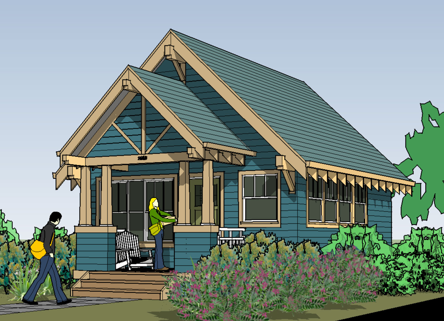 A105 Harding: 440 sf Traditional / Craftsman