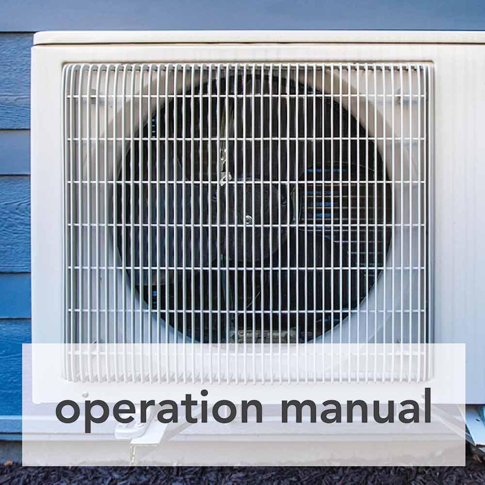 heat pump operation manual