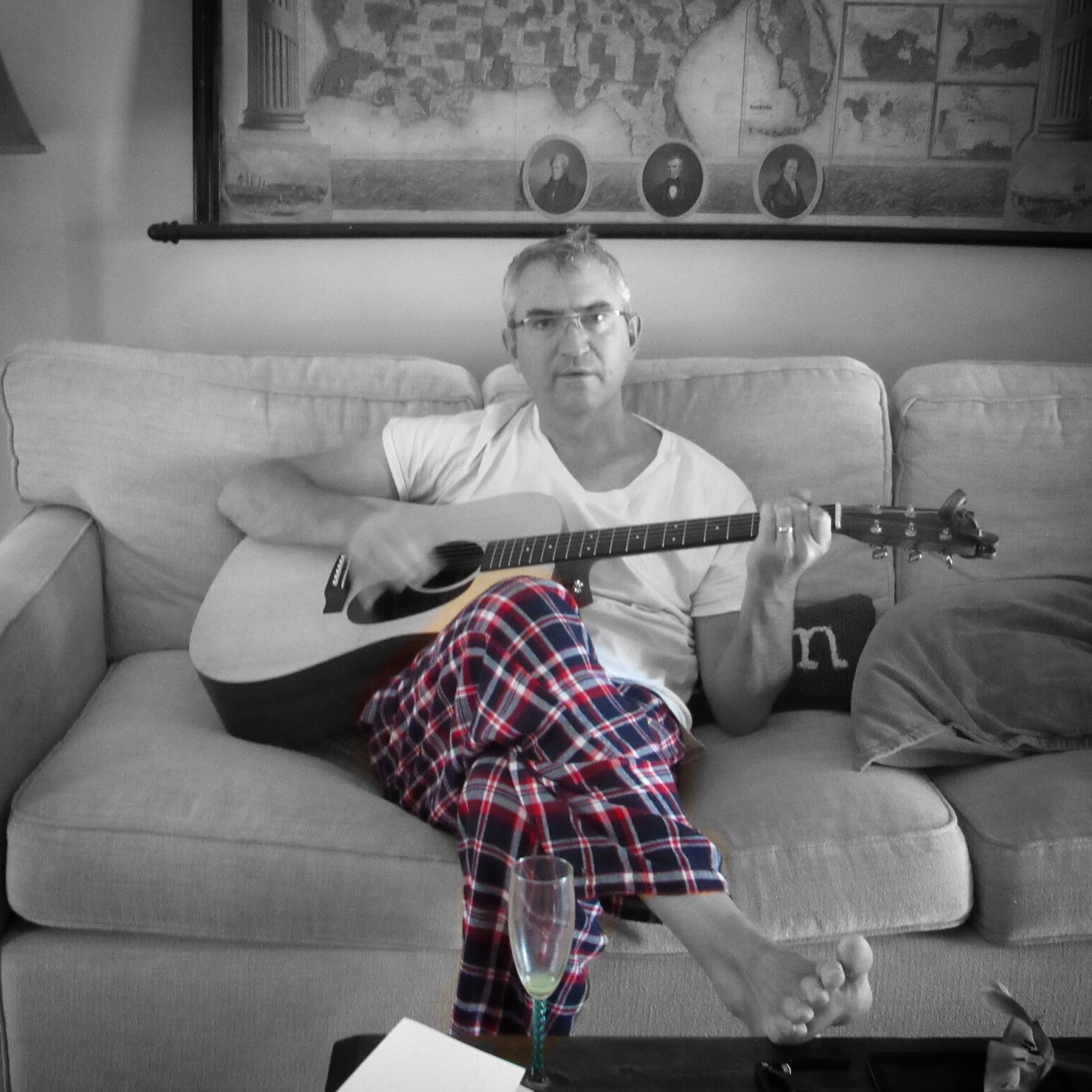Yeah, that's me on Christmas morning with my new guitar.