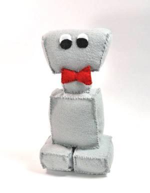 Grey Retro Robot