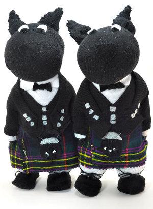 Scottish Dogs in Kilts