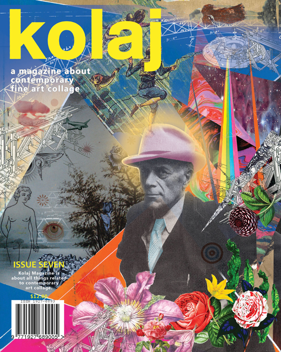 Cover Art, Issue 7: Collage and Collaboration , Kolaj Magazine, Québec, Canada. Digital collage collaboration with 6 other artists.(2014)