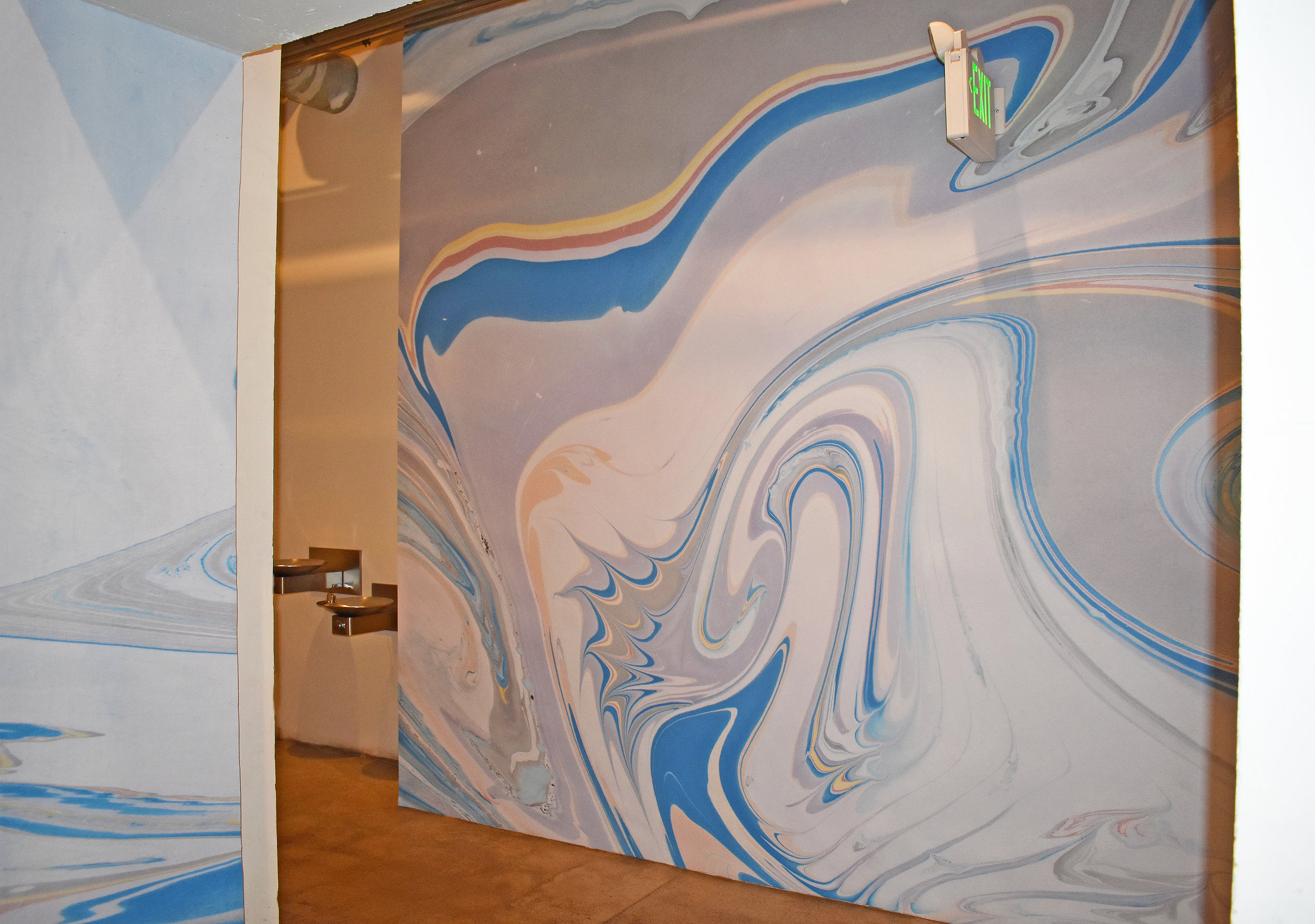 Marbled Mural Installation, Redcar Properties, Highland Park, CA. 18.5 ft x 13 ft. (2019)