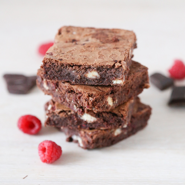 Our White Chocolate & Raspberry Brownie