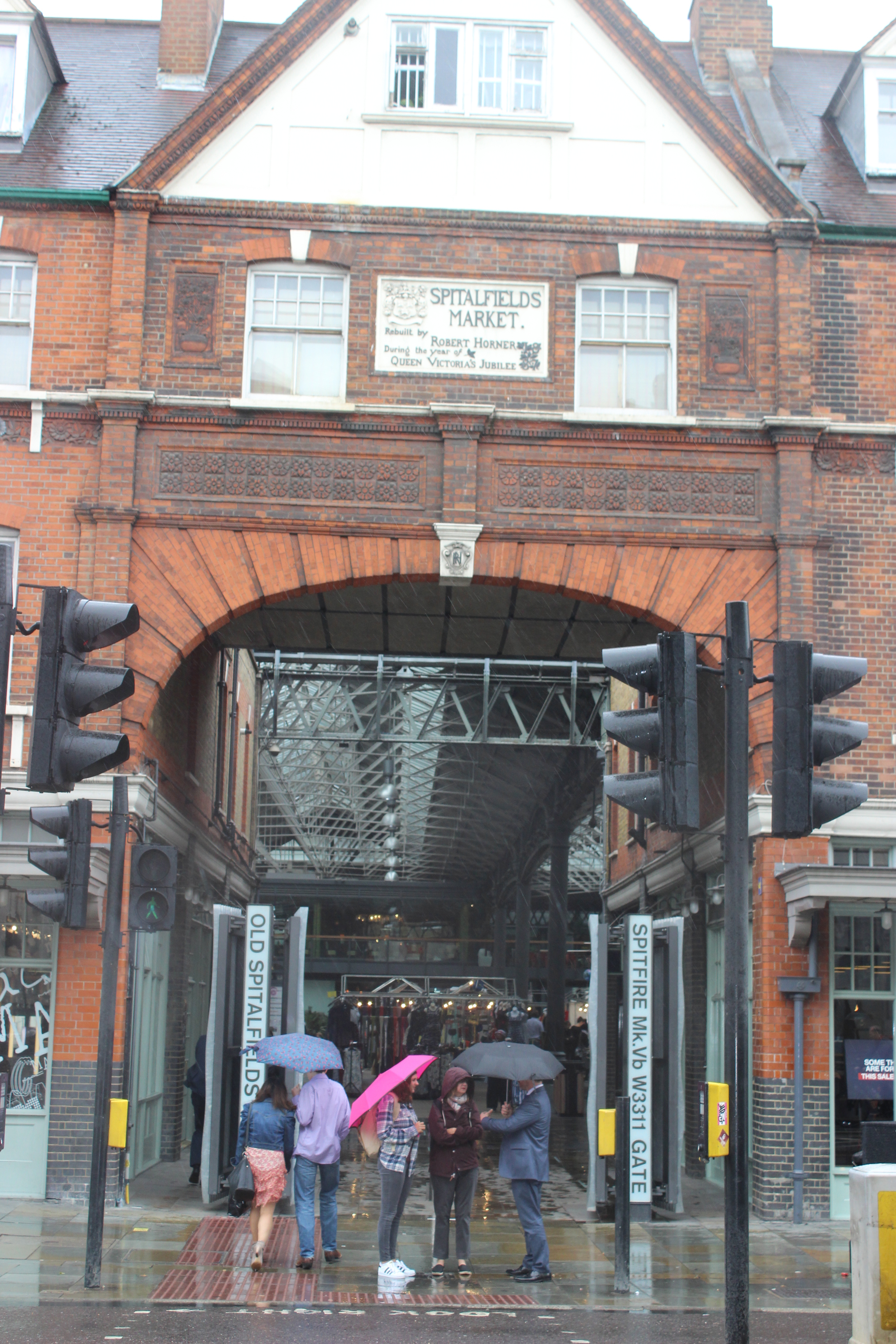 When it rains, Spitalfields market is just a stones throw away, for all your undercover shopping needs!