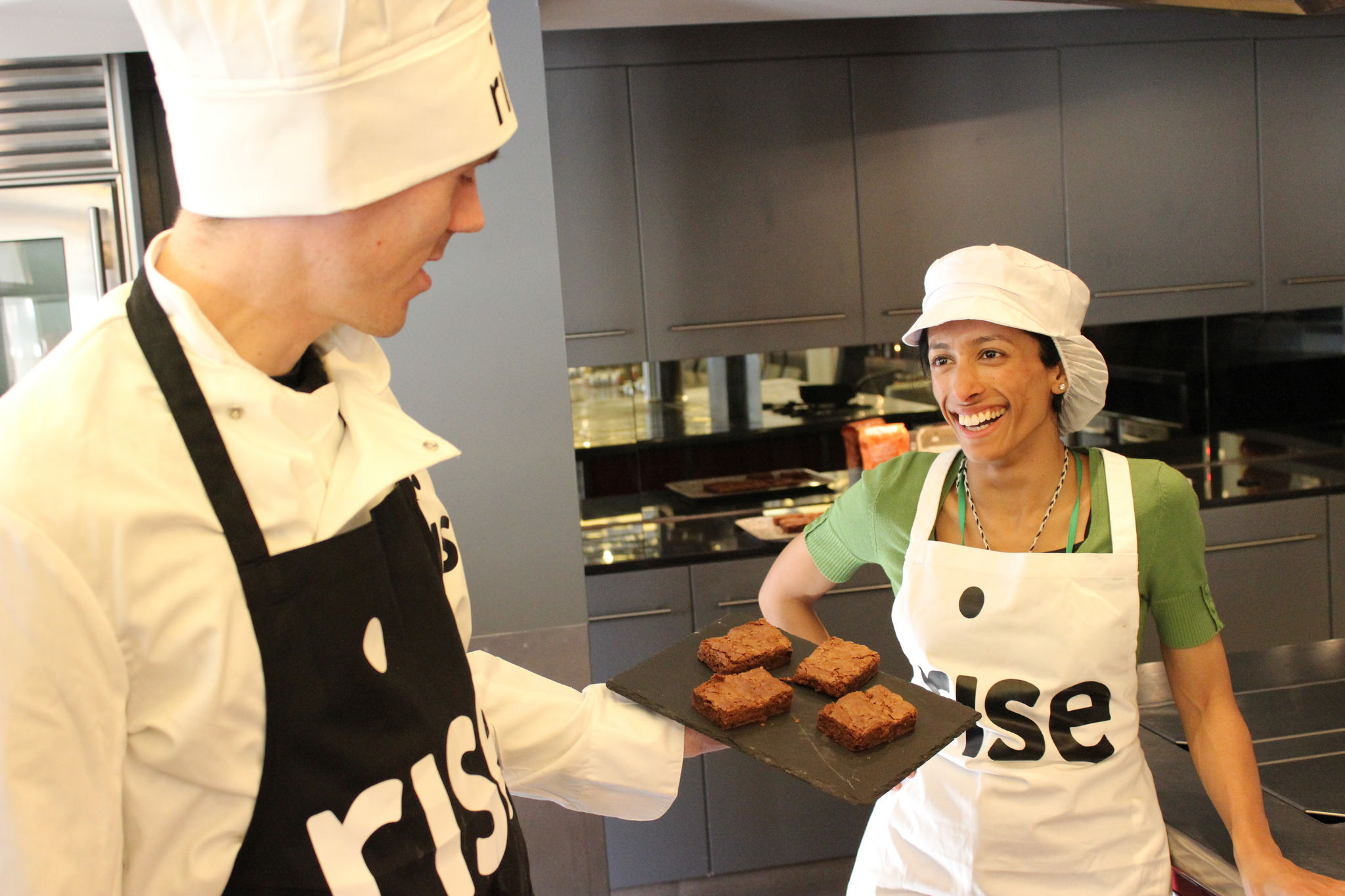 All of our chocolate brownie gift and corporate orders are baked by our professional chefs and homeless trainees