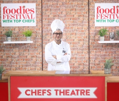 Andrea in his Rise Bakery whites at the recent Foodies Festival...
