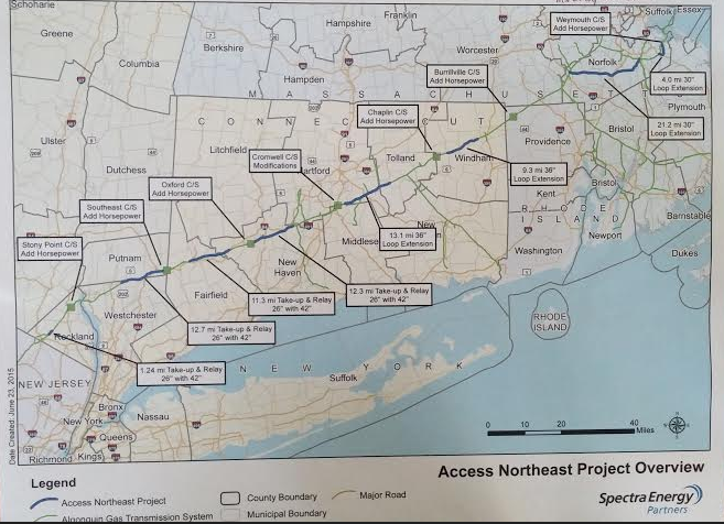 Map of Access Northeast