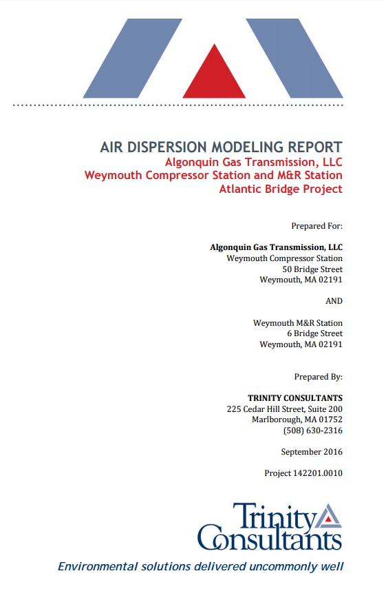 Air Dispersion Modeling Report (Nov. 2016)