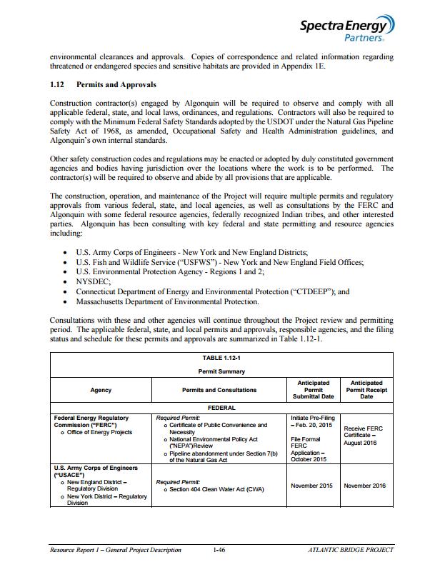 AB Resource Report 1 & Permits