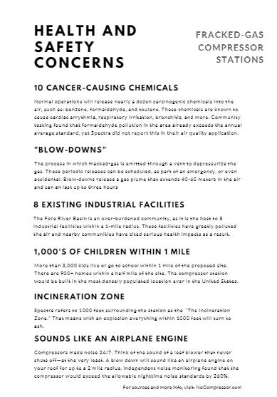 Health & Safety Concerns