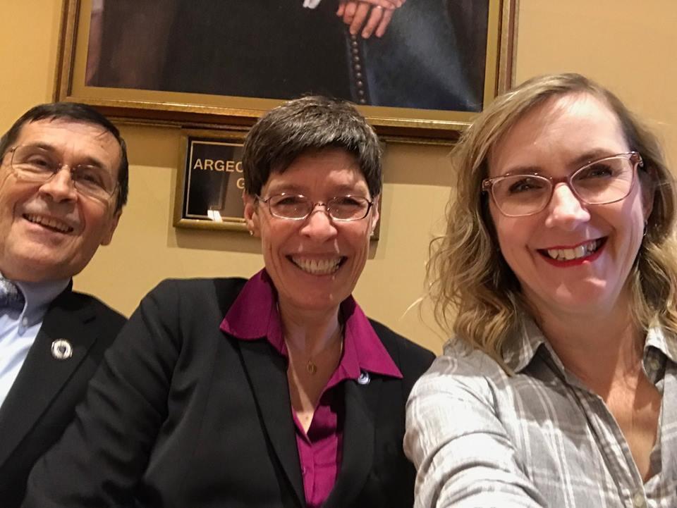 Rep. Hawkins, Rep. Meschino, Andrea (left to right)  PHOTO CREDIT: Andrea H.