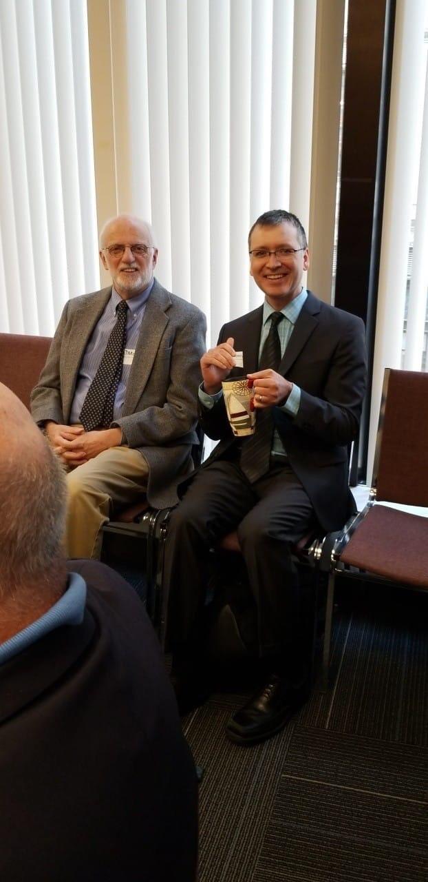Dr. Richard Clapp (left) and Dr. Curt Nordgaard