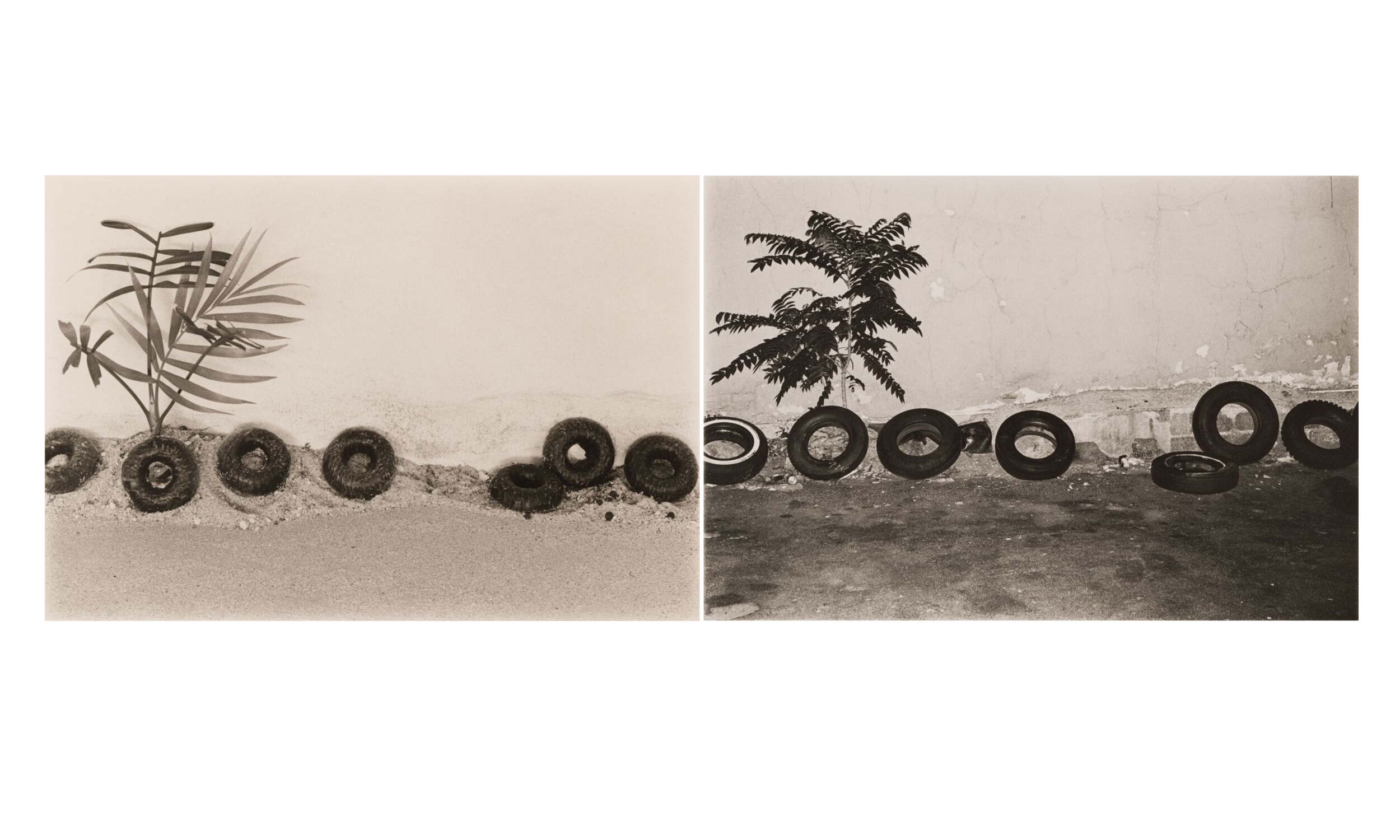 Marcia Resnick (American, b. 1950),  Landscape/Loftscape #13 , 1976, gelatin silver prints, 8 x 11 ¾ in. (images, each). Carnegie Museum of Art, Pittsburgh; Purchased with funds provided by the Arts, Equity, and Education Fund, 2018.40.A-.B Courtesy Deborah Bell Photographs, New York, and Paul M. Hertzmann, Inc., San Francisco © Marcia Resnick