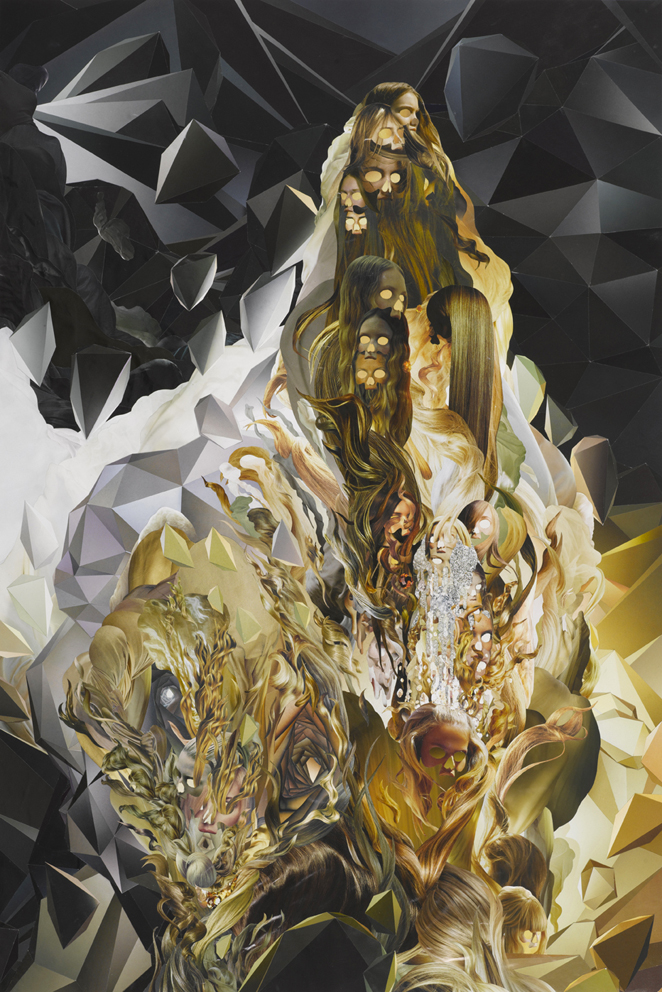 ION, Omni No. 3, paper collage, 90 x 60 cm, 2008.