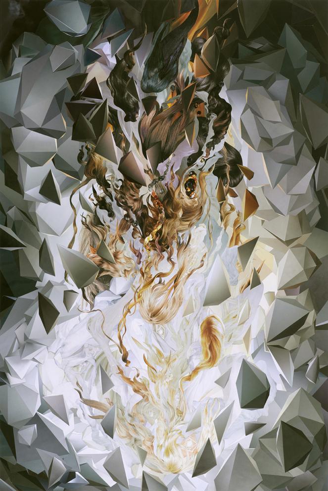 ION, Omni No. 4, paper collage, 90 x 60 cm, 2008.