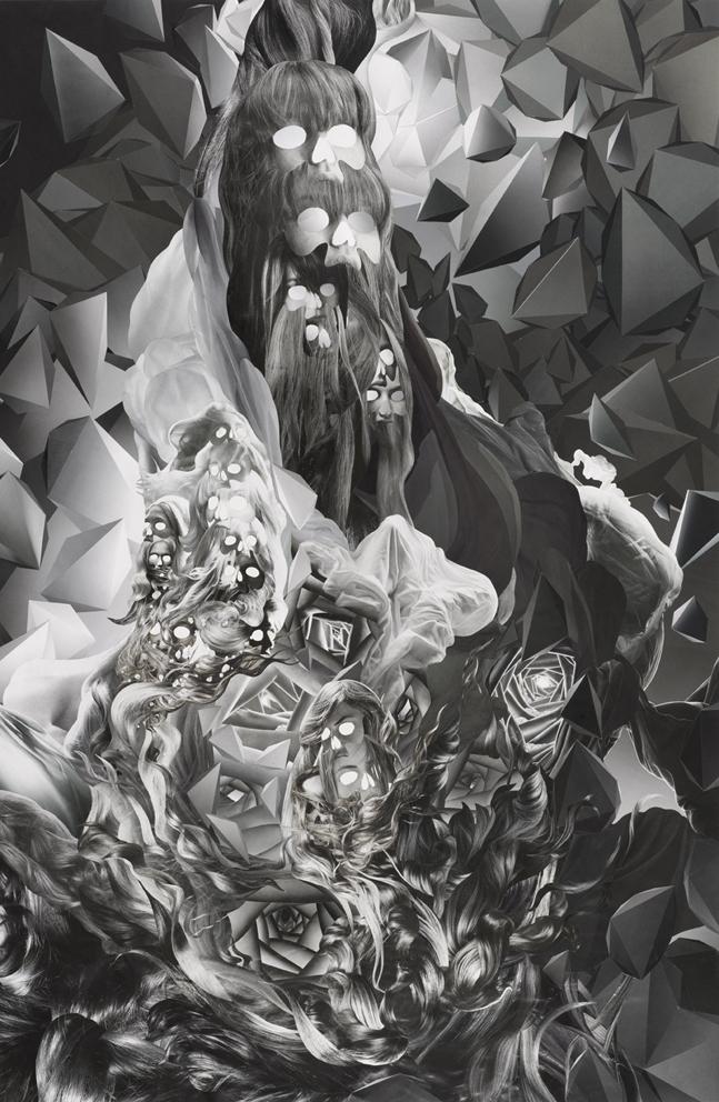ION, Omni No. 10, paper collage, 90 x 60 cm, 2008.