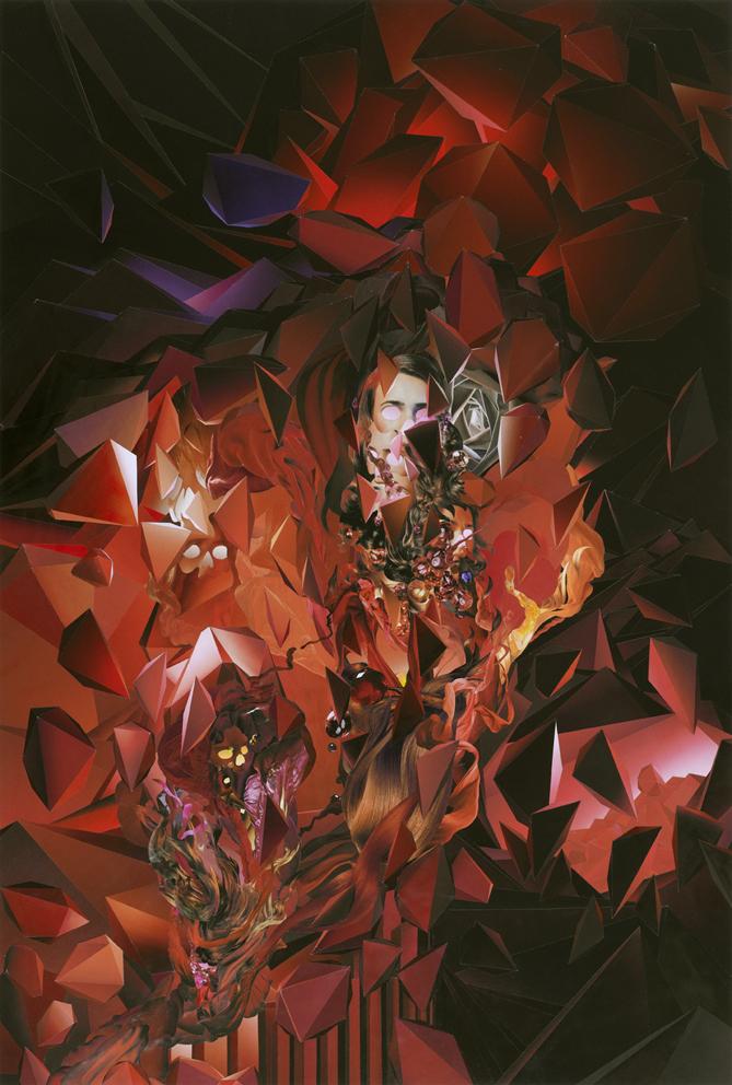 ION, Omni No. 11, paper collage, 90 x 60 cm, 2008.