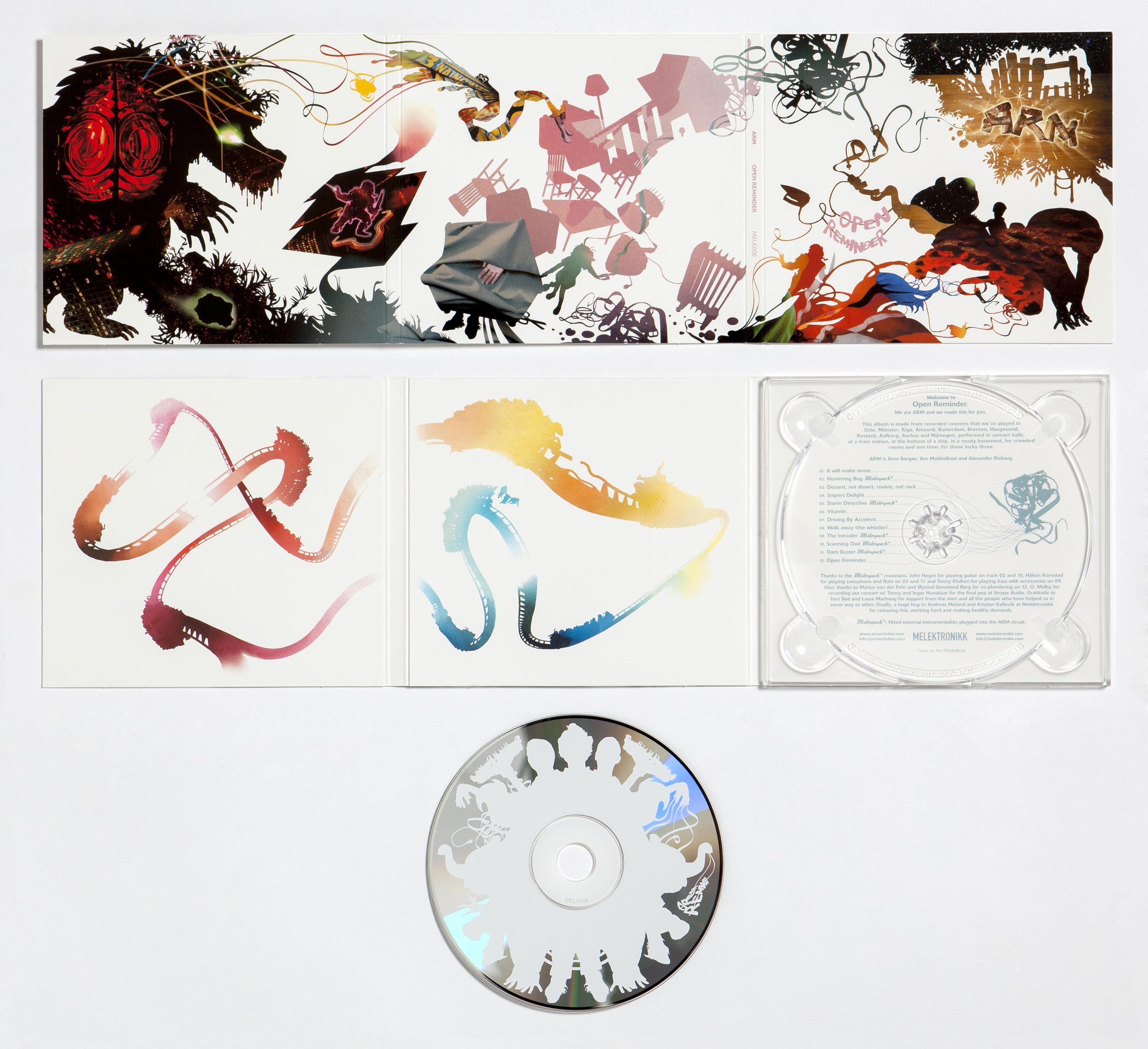 Open Reminder  CD cover design. Released by Melektronikk, 2004.