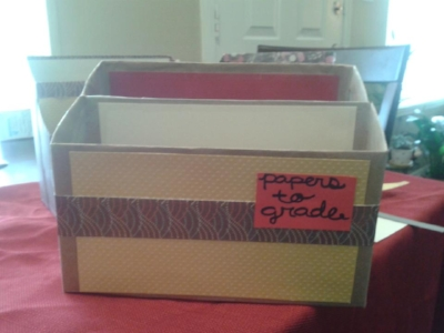 Grading Papers Box for Teachers