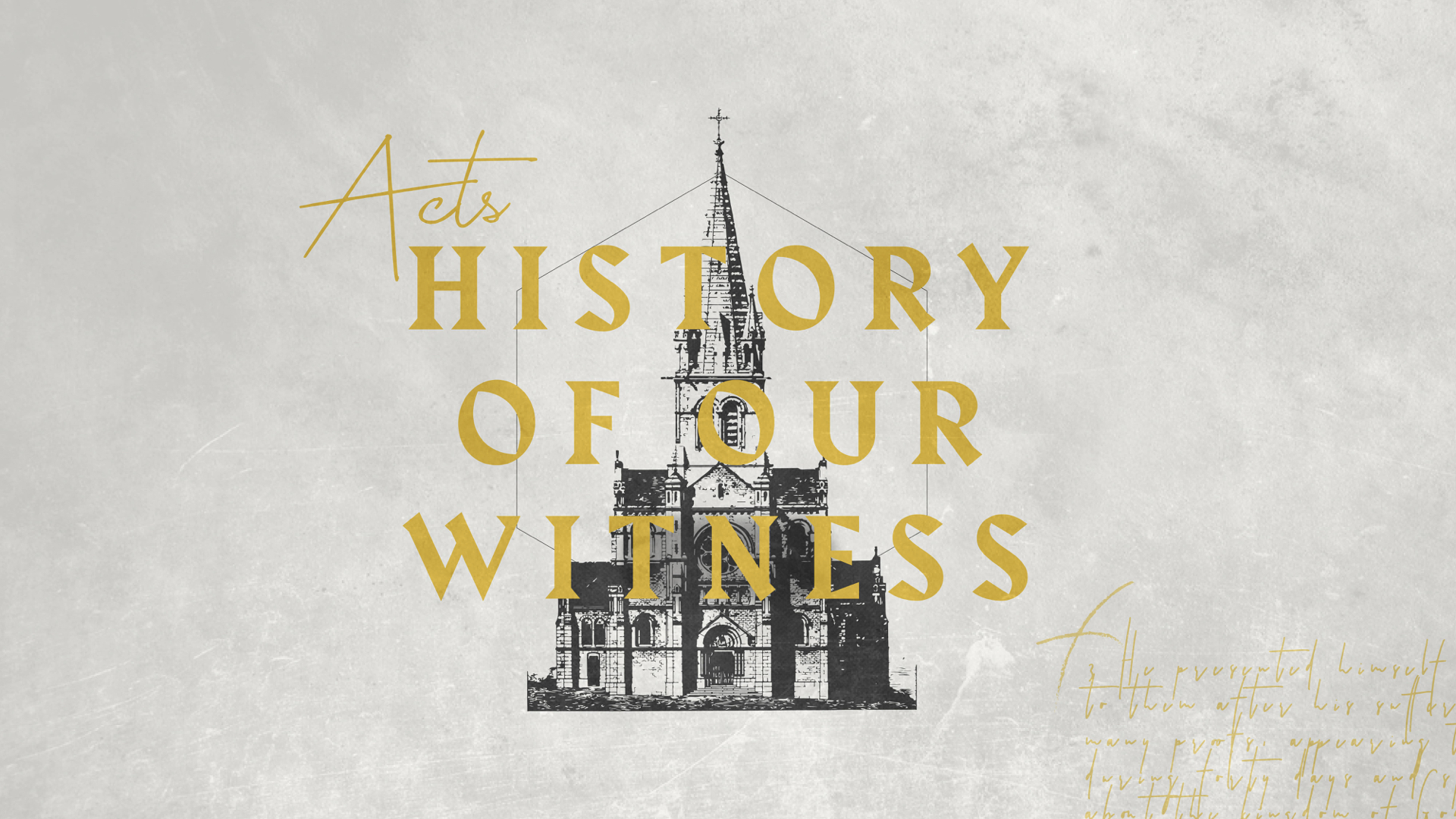 Acts 3:1-10    October 14th 2018