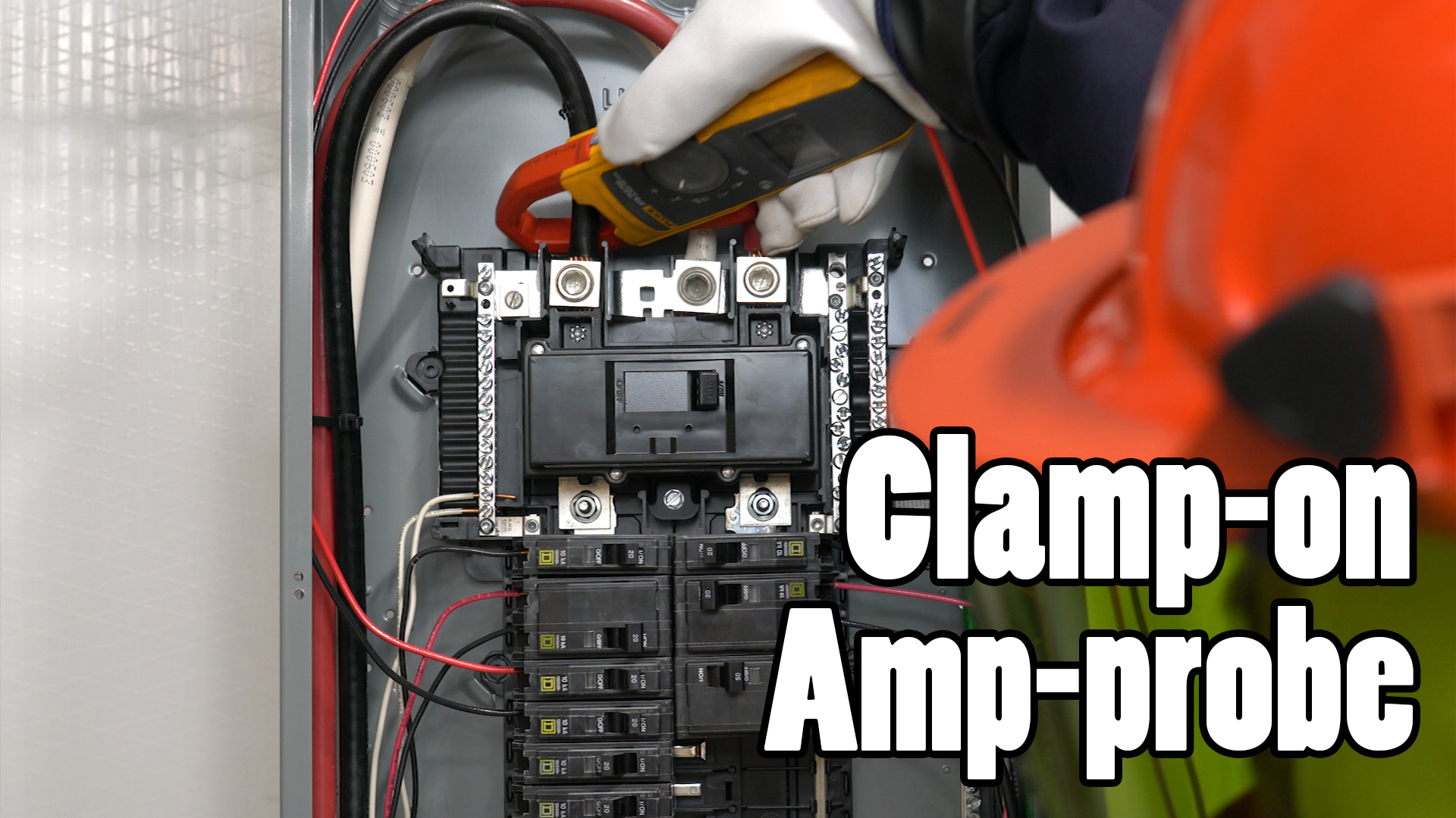 If you have larger wires than 1/0 THHN then you'll need to get your hands on a clamp-on ammeter.