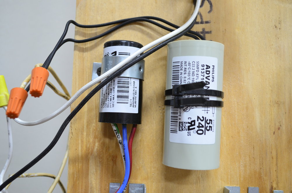 Left - Ignitor    Right - Capacitor