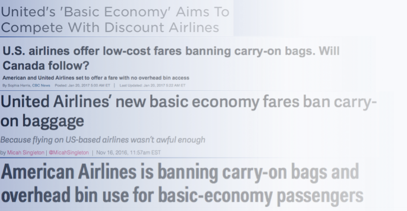 Airlines are in an arms race to copy spirit & provide the lowest cost. -