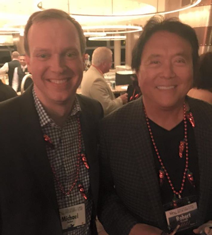 Michael Becker with Rich Dad Robert Kiyosaki