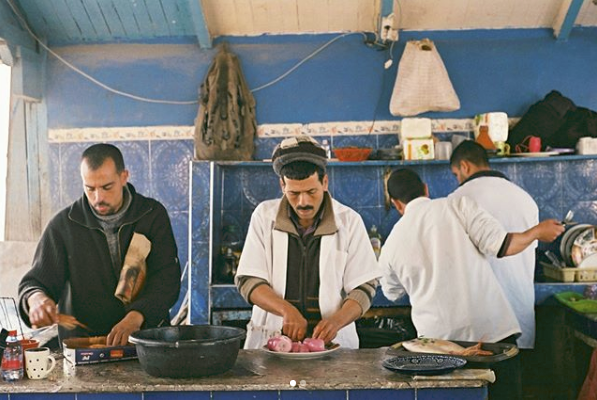 Photo: One of Essaouira's fish stalls, shot by me on 35mm.