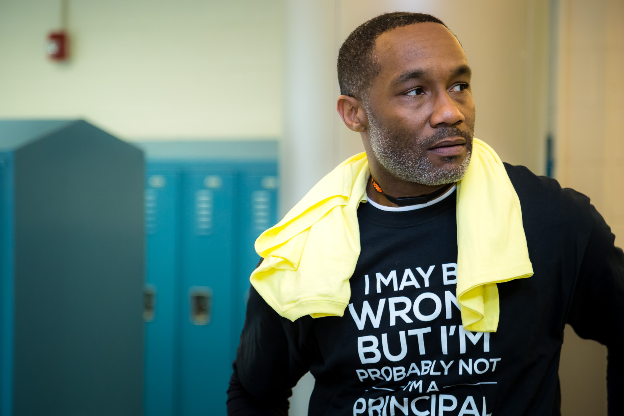 Is this not the coolest principal you've ever seen in your life?! He runs the show at Sousa Middle School in Washington DC, where the Leadership Summit was held.