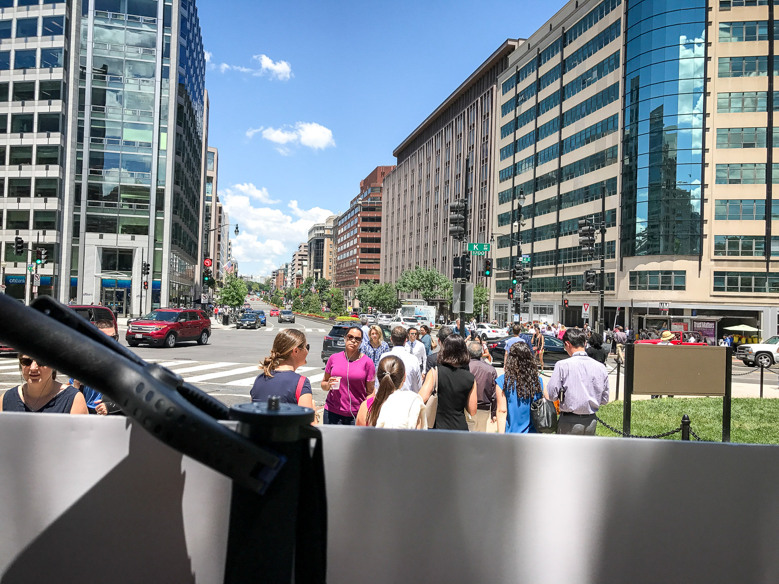 The view from behind my billboard at Farragut Square.