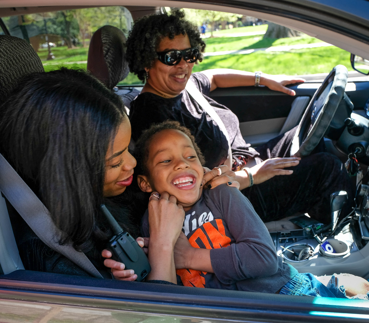 Snapped his little fingers and a car full of queens showed up. We got grandmama and auntie...
