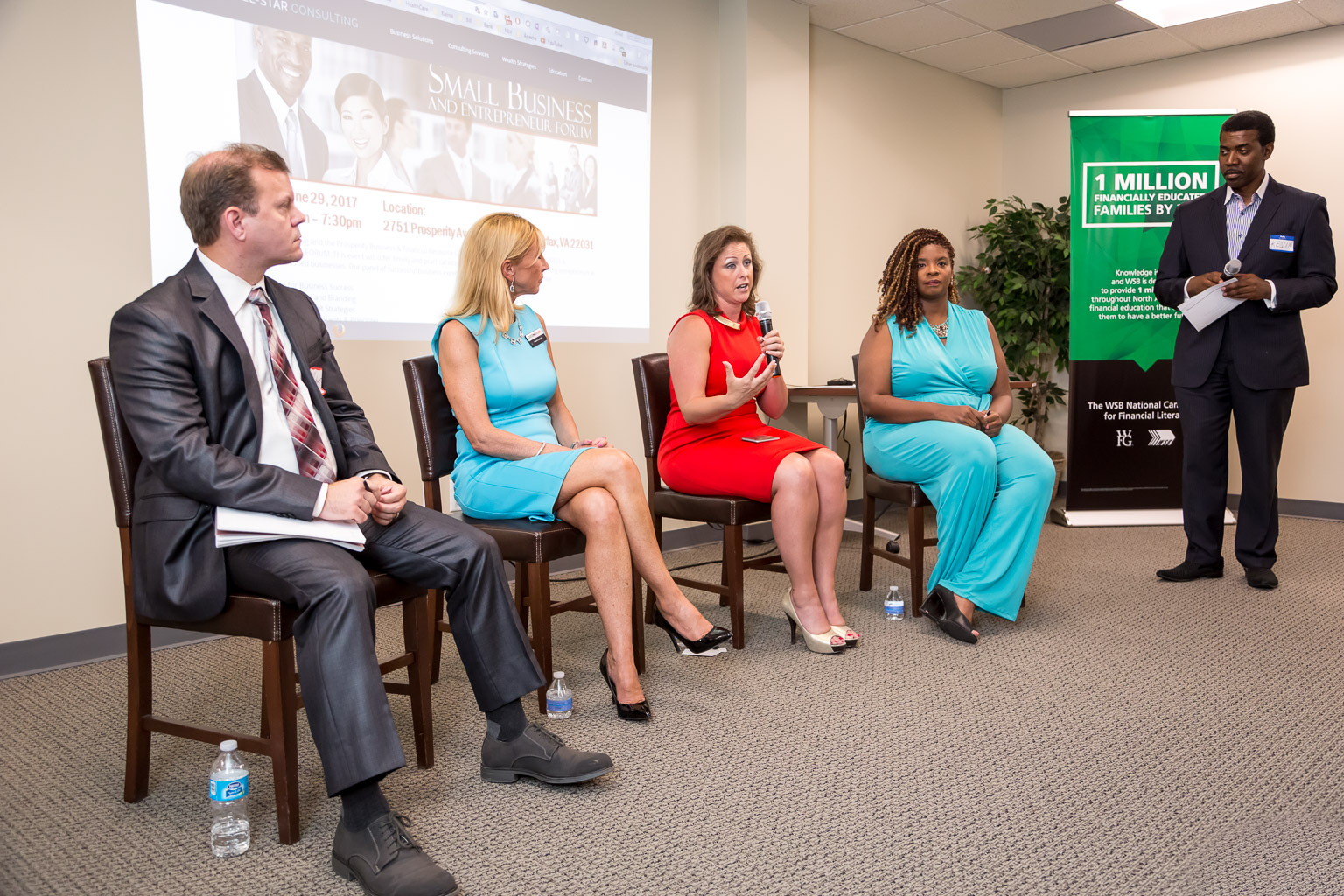 This panel came together to give advice on how to succeed as a small business owner.