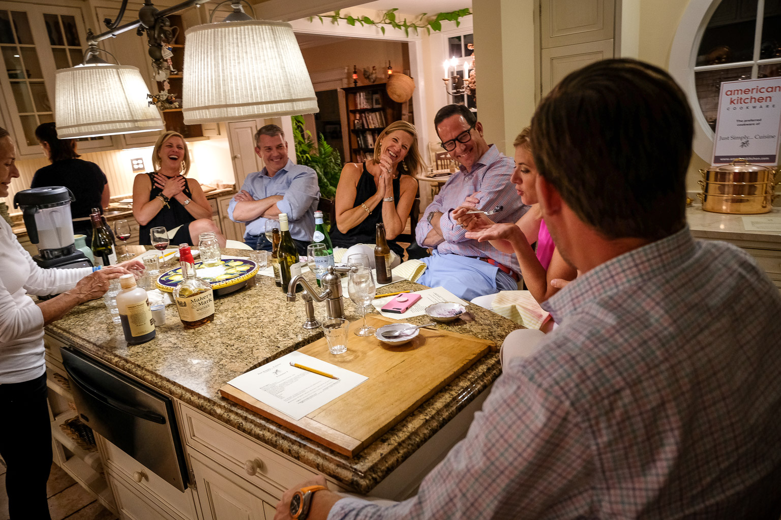 Food, friends, and fellowship: this is a huge part of the Just Simply...Cuisine experience.