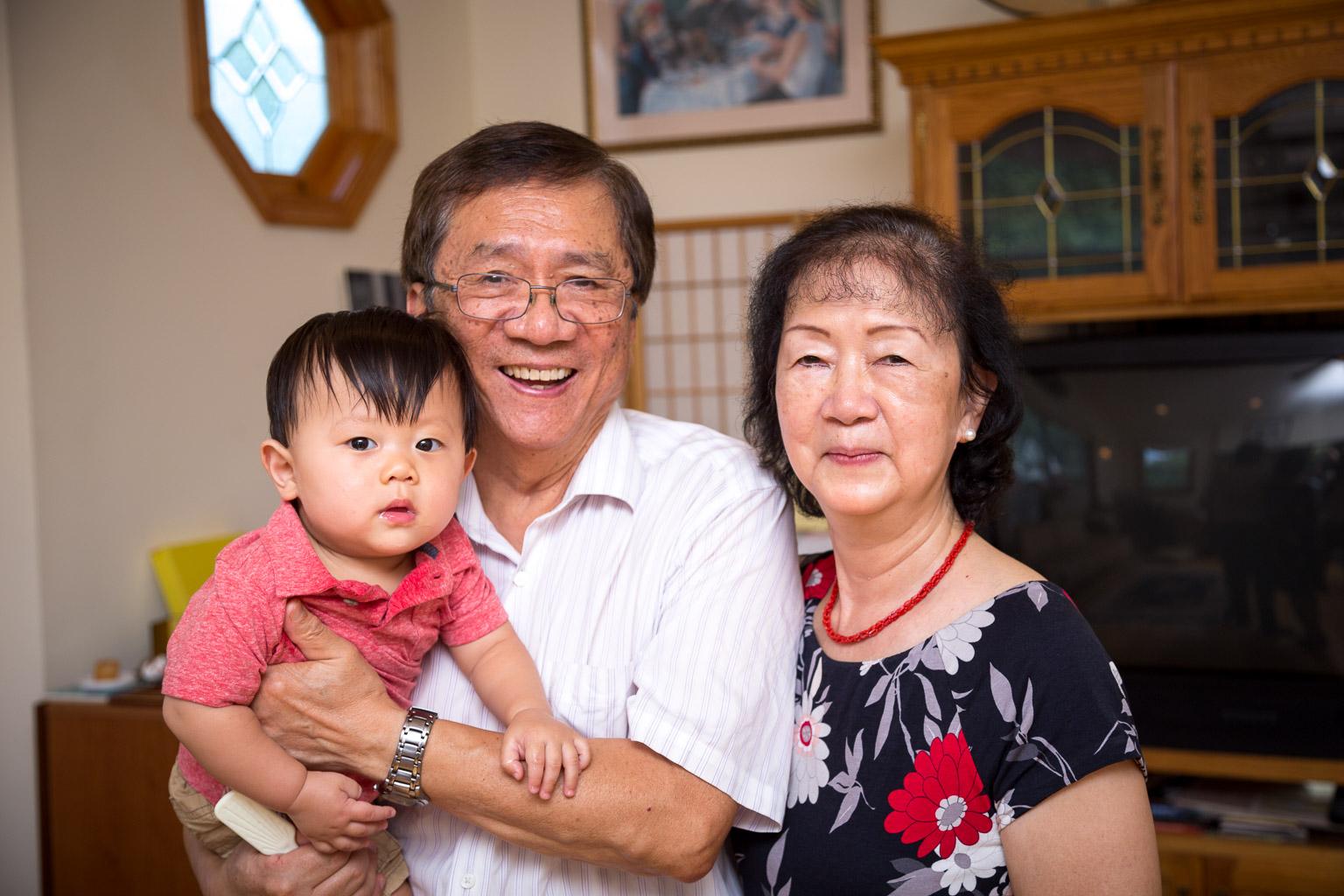 The proud grandparents.