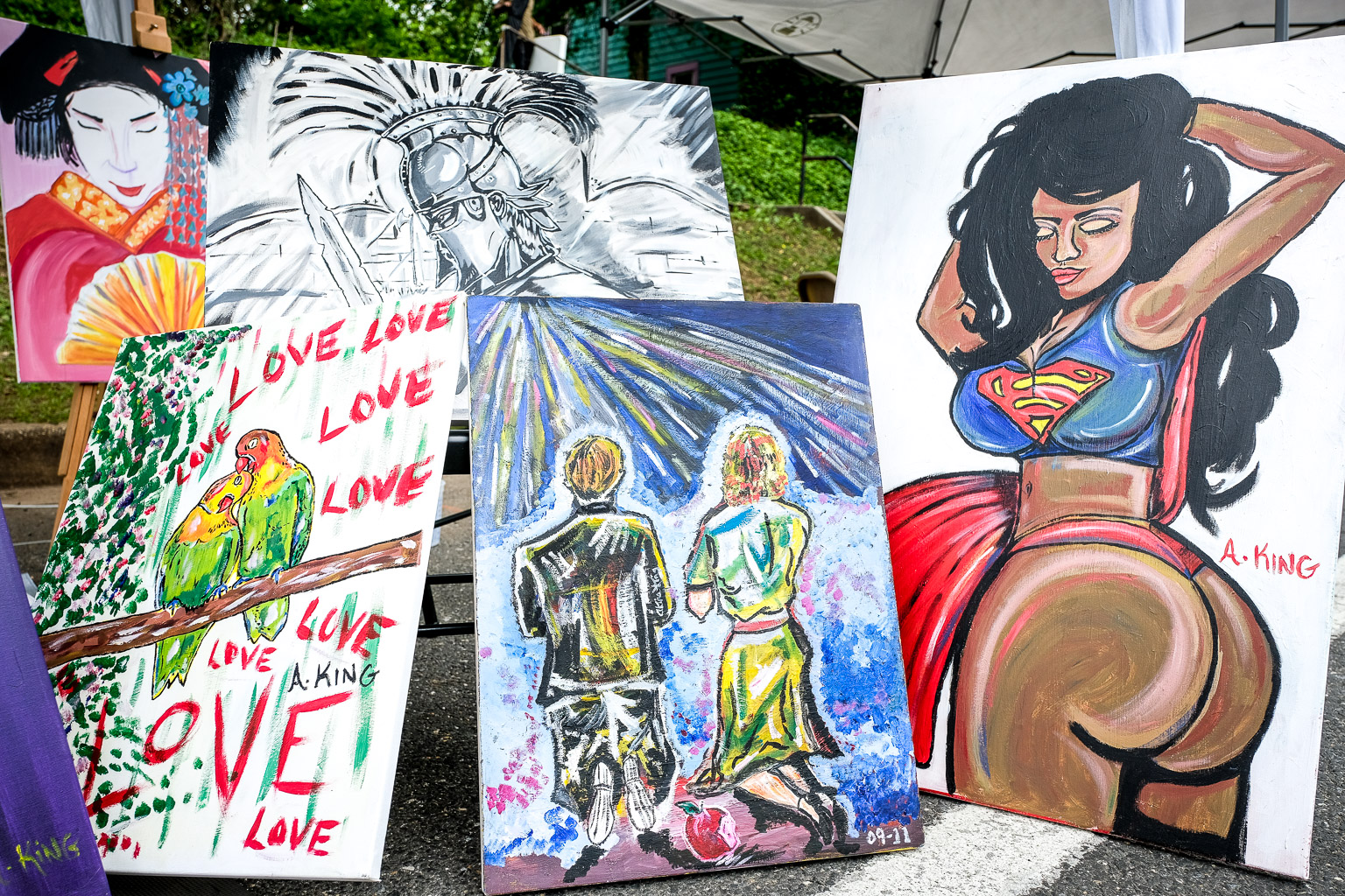 Some of King's work from the Mount Rainier Day festival back in May. Some of these may still be available for purchase.
