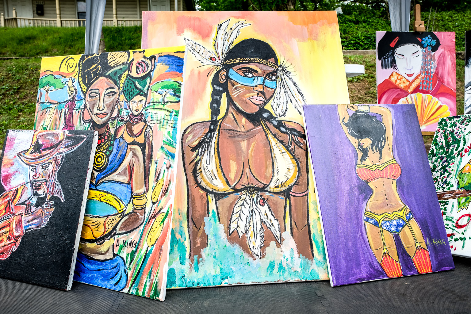 More of King's work from the Mount Rainier Day festival. Again, some of these may still be available for purchase.