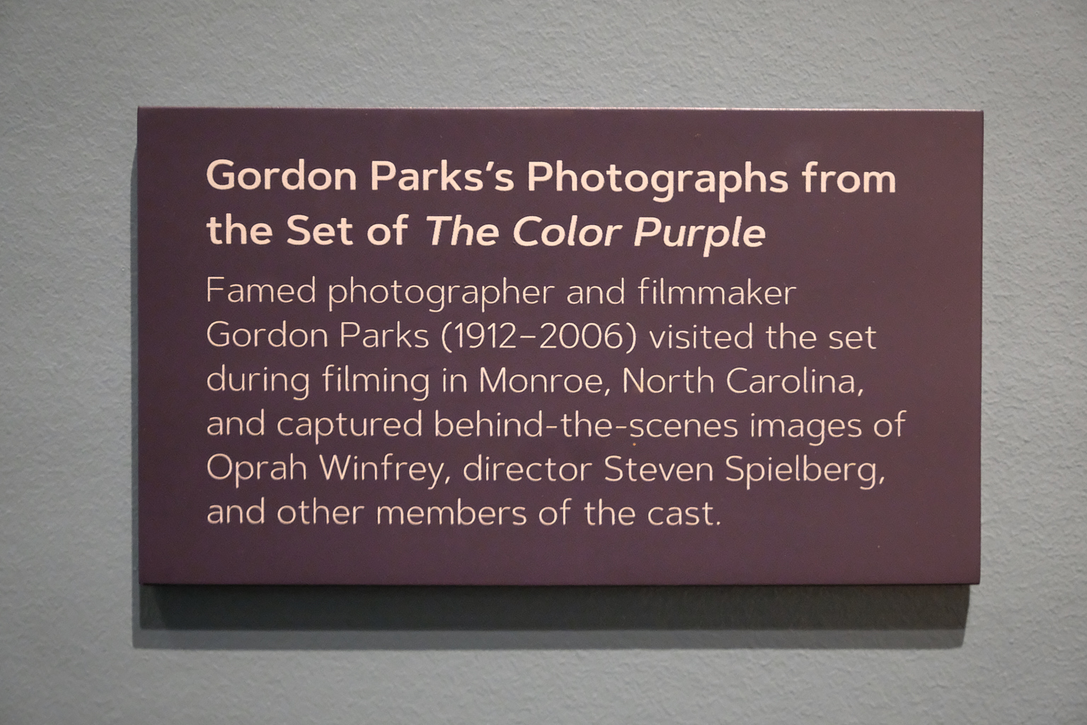 Gordon Parks! Gordon freaking Parks!!!…just hanging around shooting behind-the-scenes images! Incredible. You know you have something special going on when there's something like that happening and it's just a footnote.