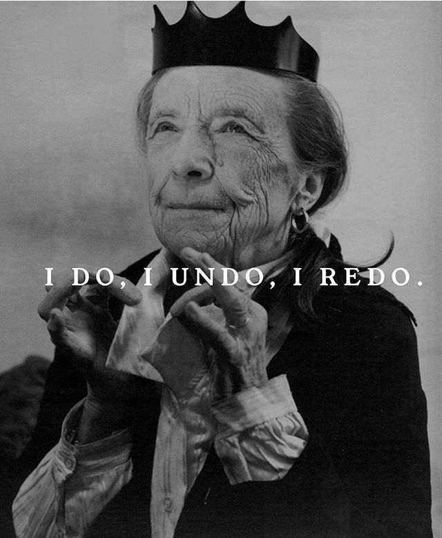 "Mantra for the week: ""I do, I undo, I redo."" — Louise Bourgeois 🏮 (Repost: @words_of_women)"