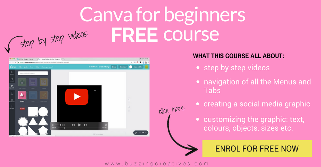 canva for beginners free course